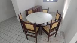 Mesa cadeiras balcão antigo colonial