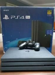 Playstation 4 Pro 1tb (ps4)  + Dualshock 4 + Jogos + Suporte