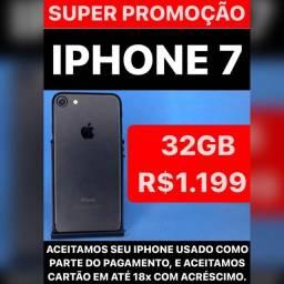 Título do anúncio: iPhone 7 32 GB preto