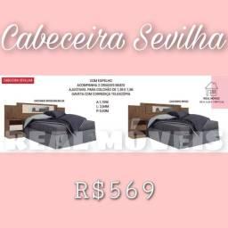 Título do anúncio: Cabeceira Sevilha / cabeceira Sevilha / cabeceira Sevilha (com espelho)