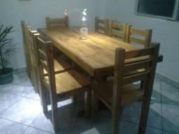 Mesa 6 cadeiras novas