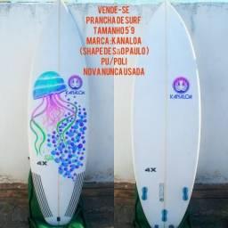 Prancha de surf tamanho 5'9 Marca Kanaloa zera