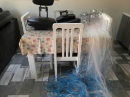 Barbada feiticeira e cadeiras giratorias
