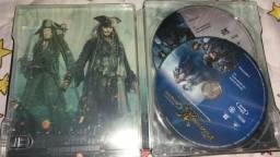 Filme piratas do Caribe Steelbook novo