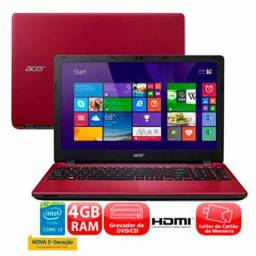 Notebook Acer i3 5° geração Vermelho