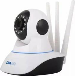 Câmera Ip Wireless Com Visão Noturna 3 Antenas Anatel Luatek