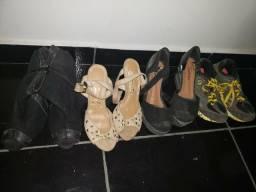 Sapatos para bazar 3 reais cada