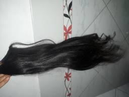 2 telas cabelo humano 60cm