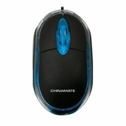 Mouse Office CM10 Preto Usb Com Fio Chinamate (Promoção)