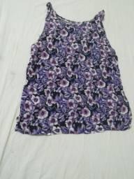 Blusa florida confortável Tam M