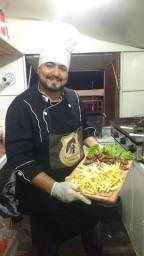 Churrasqueiro e chef de cozinha festas e ventos