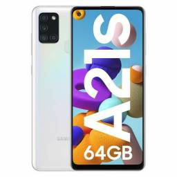 Smartphone Samsung Galaxy A21s 64GB Preto 4G - 4GB RAM 6,5? Câm. Quádrupla + Selfie 13MP