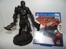 Vendo ou troco action figure kratos god of war omega + jogo