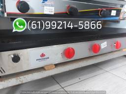 Chapa Industrial a gás 120x50cm Progás Bifeteira