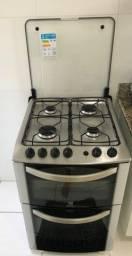 Fogão 4 bocas Electrolux duplo forno branco