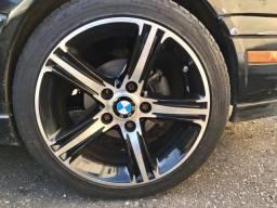 RODAS ORIGINAIS BMW 120i aro 17 + Pneus novos + adaptador de roda 4 p/ 5 furos