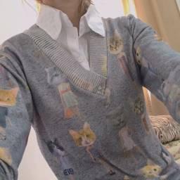 Suéter gatinhos aesthetic