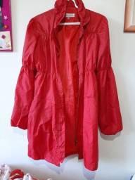 Casaco Vermelho estilo casaco de chuva