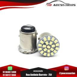 Lâmpada led 1157 (p21/5w) shocklight lant freio 22 smd 12v