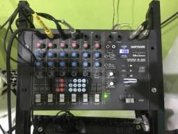 Mesa de som wattson cíclotron USB 6 canais