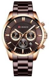 R$ 179 Relógio Curren 8358 Chumbo Original - Novo, Nota fiscal, Parcela sem juros