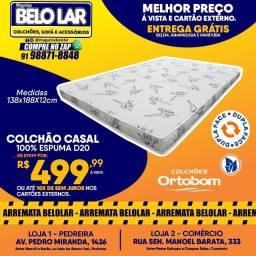 Título do anúncio: Colchão Ortobom Casal 100% Espuma