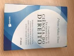 Título do anúncio: livro compendio de introdução a ciencia do direito maria helena diniz