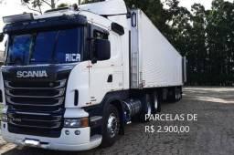 Título do anúncio: Scania R400 6x2 2016 Baú Refrigerado Entrada mais Parcelas com Contrato de Serviço.