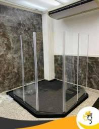 Escudo ACÚSTICO ACRÍLICO ou vidro temperado