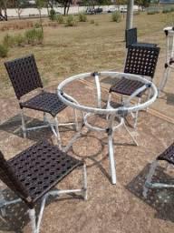 Cadeiras de alumínio com fibra direto da fábrica