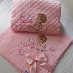 Enxoval de luxo personalizado fraldas, toalhas