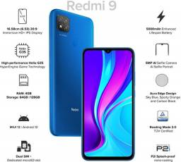 Redmi 9 64Gb + 4Gb Ram índia Azul