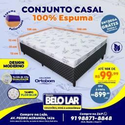 Cama Ortobom Casal De Espuma, Compre no zap *