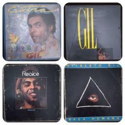 Título do anúncio: Discos de vinil do Gilberto Gil 4 discos