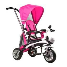 Triciclo Multifuncional 3 Em 1 Bel Brink 901300 Com Capota Rosa<br><br>