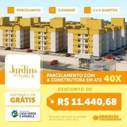 Título do anúncio: L*- Jardins 3 - Lançamento no turu - Financiamento facilitado