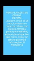 VENDO LAVAGEM DE CARROS