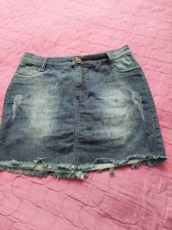 Título do anúncio: Saia Jeans cm Laycra Vick 46