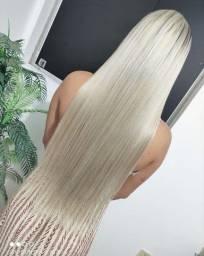 Aplicação de mega hair