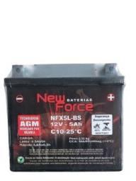 Bateria New Force p/ Honda biz 100 125+ CG 150