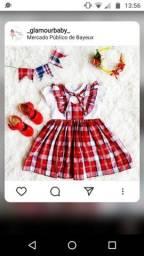 Vestido xadrez infantil