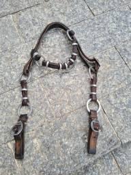 Cabecada com argolas de inox  rinox