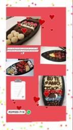 Barca de chocolate e brigadeiro para o dia dos namorados