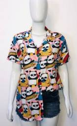 Camisa de botão Camisaria Moda Tumbrl