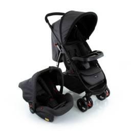 Carrinho + bebê conforto 0-15kg cinza escuro