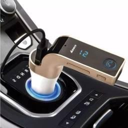 Carregador Carro Bluetooth veicular G7 com MP3 transmissor FM automotivo