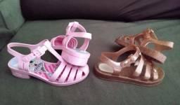2 Sandálias Barbie & Lol Surprise Tam 28/29 (originais / usadas)