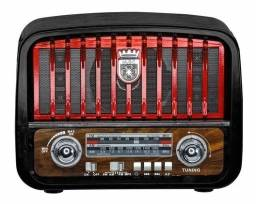 Radio Retrô Am Fm Entrada Usb Cartão Sd 3w