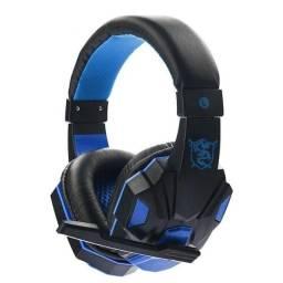 Fone Headset Gamer Com Fio Som Surround Stereo Com Microfone Para Notebook / PC