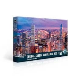 Quebra-cabeça 1500 peças Skyline de Chicago panorâmico - Toyster